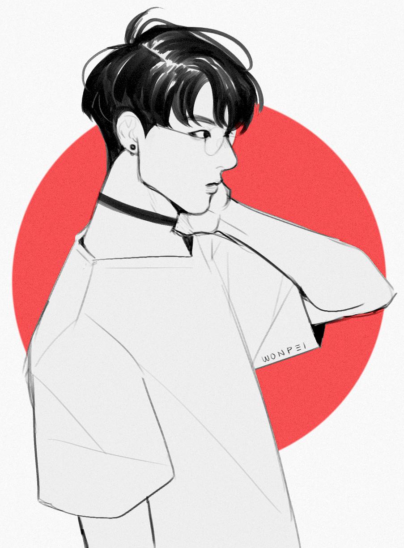 Pʀᴇᴛᴛʏ ʙᴏʏs Jungkook Fanart Bts Drawings Kpop Fanart