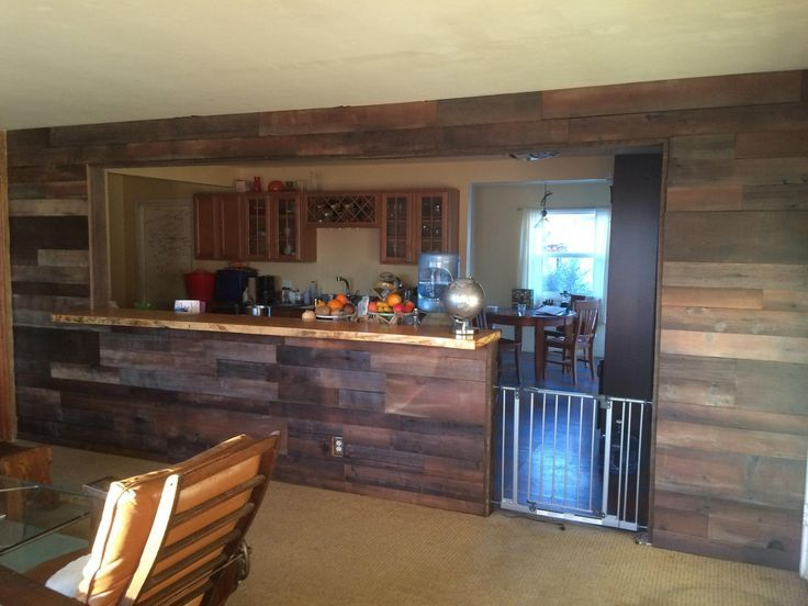 Reclaimed Shiplap Feature Wall Complete With A Live Edge
