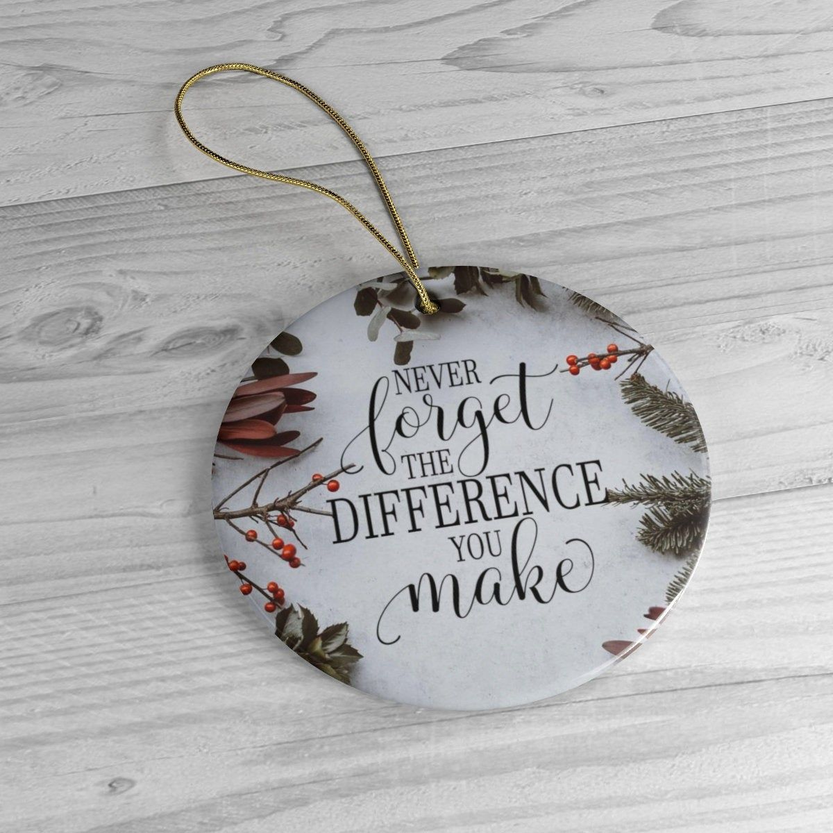 Never Forget The Difference You Make Circle Ceramic Ornament Teacher Ornament Appreciation Ornament Teacher Christmas Teacher Keepsake Teacher Ornaments Teacher Christmas Ceramic Ornaments