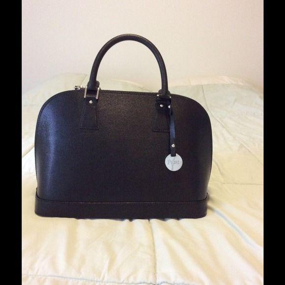 Fiore Prezzo Black Leather Genuine Handbag Make In Italy Bags