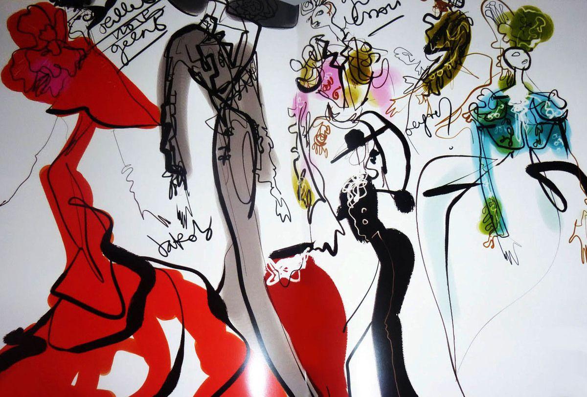 Christian Lacroix illustrations  Google Search  Fashion