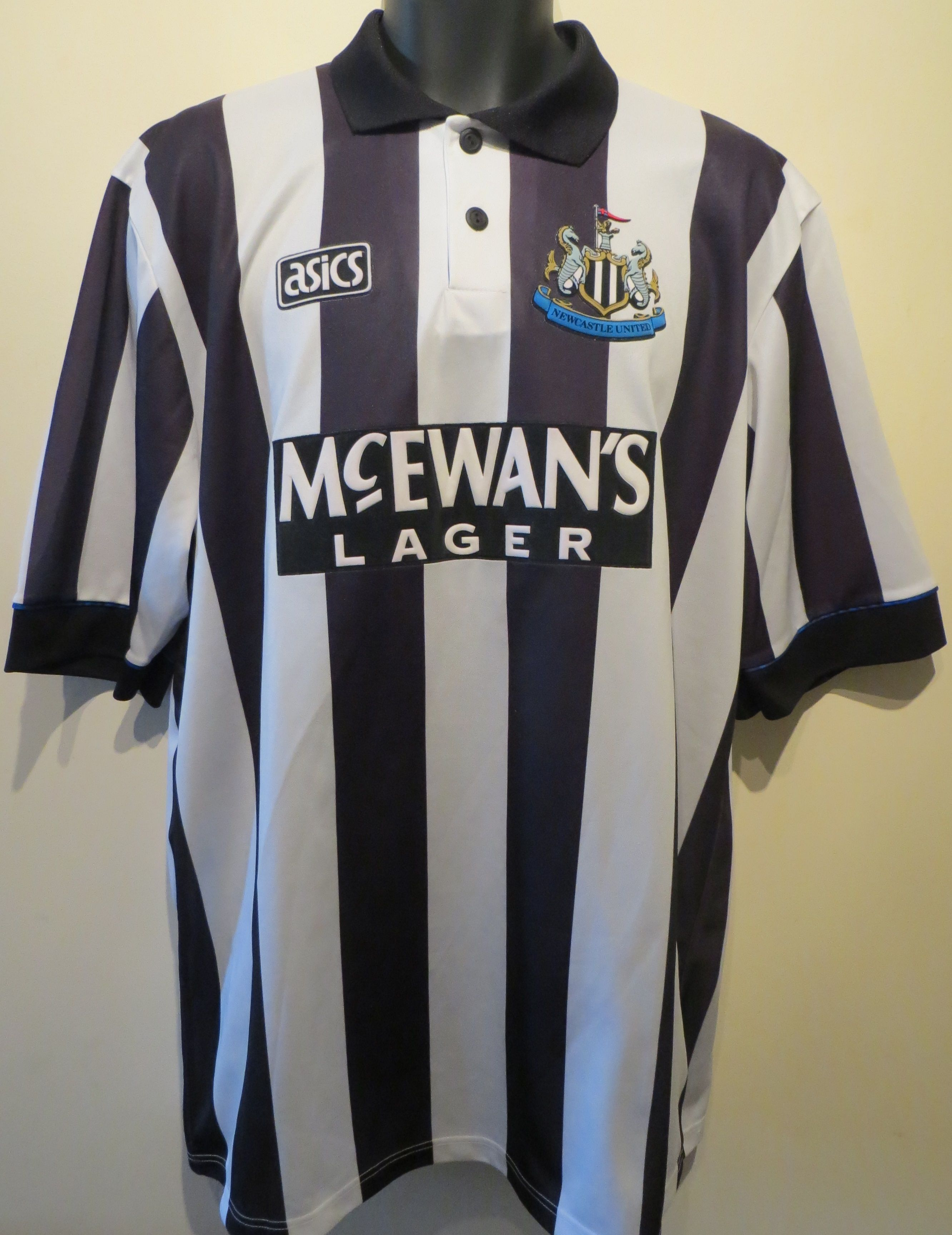 e7eb8c6bc6d A collection of retro football shirts. 90s Newcastle United home shirt by  Asics  NUFC  Keegan