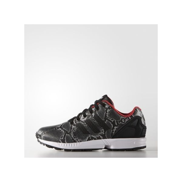adidas ZX Flux Shoes (€48) ❤ liked on Polyvore featuring shoes, snakeskin shoes, python shoes, python print shoes, adidas footwear and suede shoes