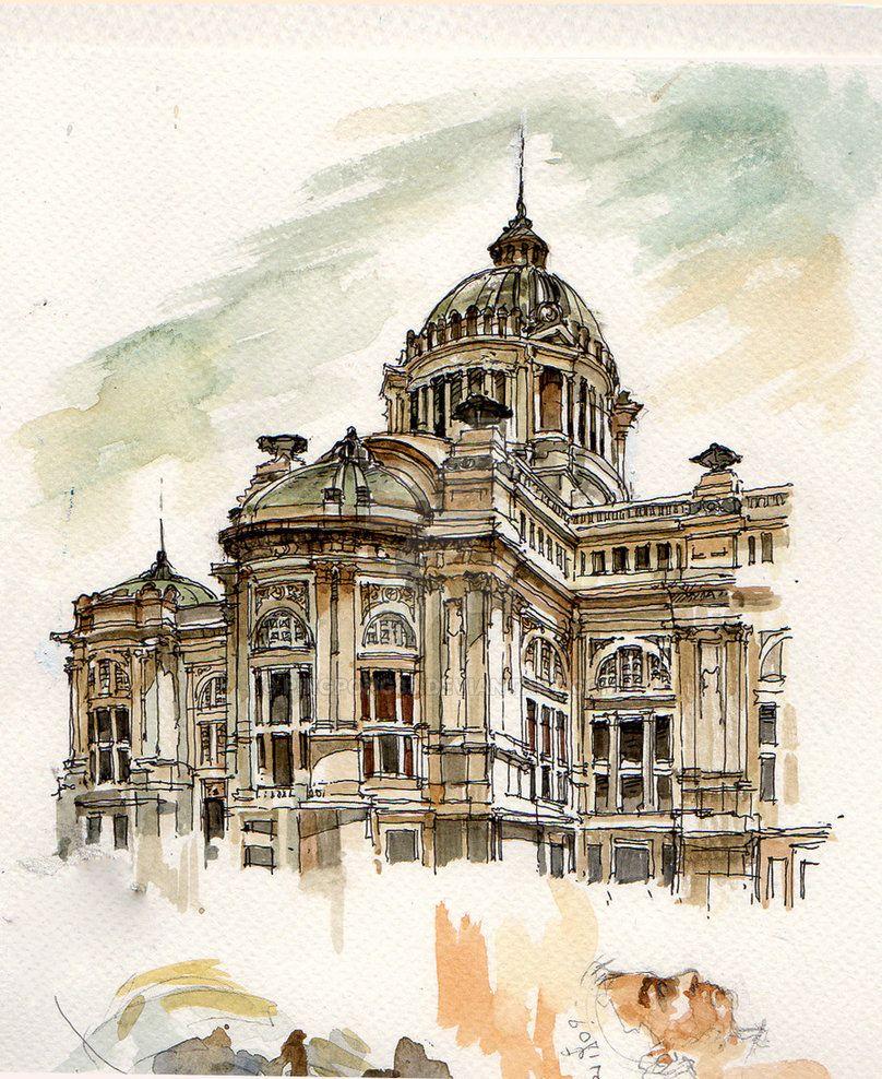Anantasamakhom Ii By Pingpong83 Architecture Drawing