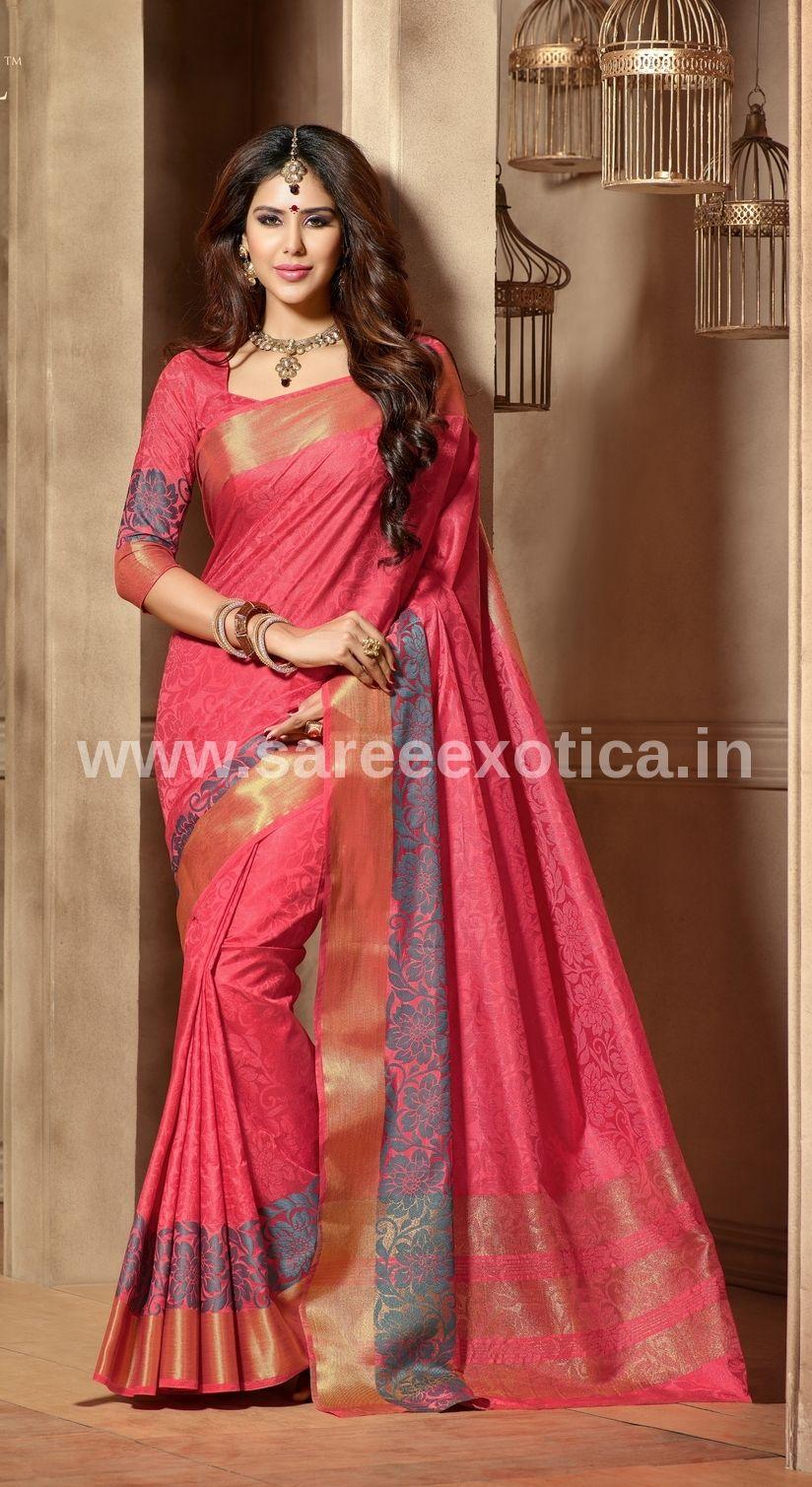 9e371fec80 Traditional Silk Saree, Latest Indian Saree, Latest Sarees, Party Wear  Sarees, Cotton