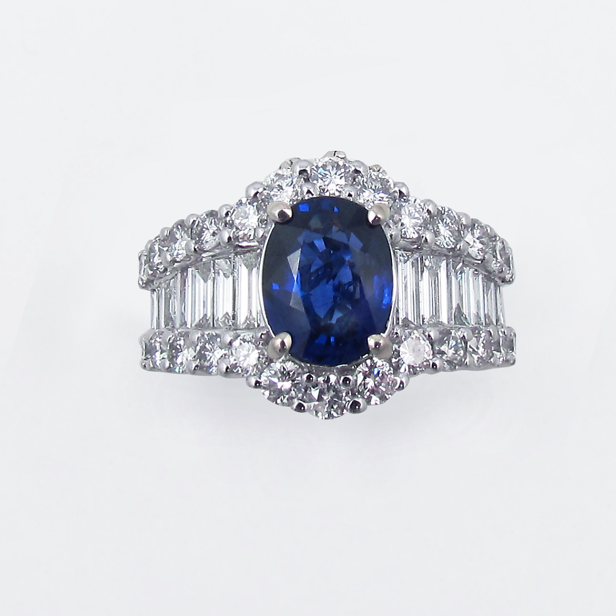 s european ring diamond antique engagement art cut old carat deco sapphire