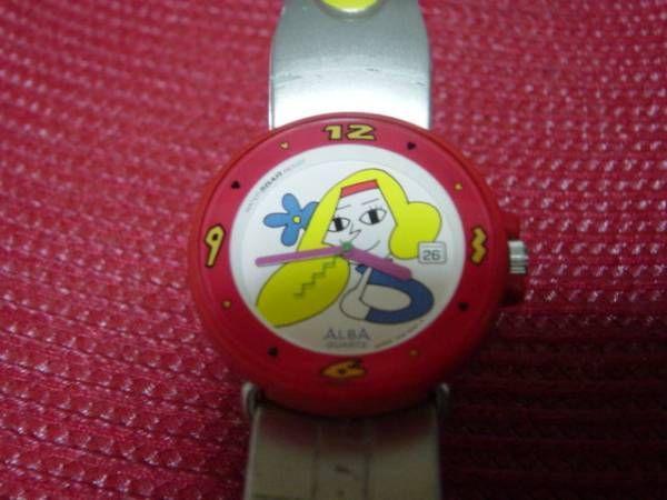 珍品アンティークALBA5BARキャラクターの腕時計/5000円 〆02月17日
