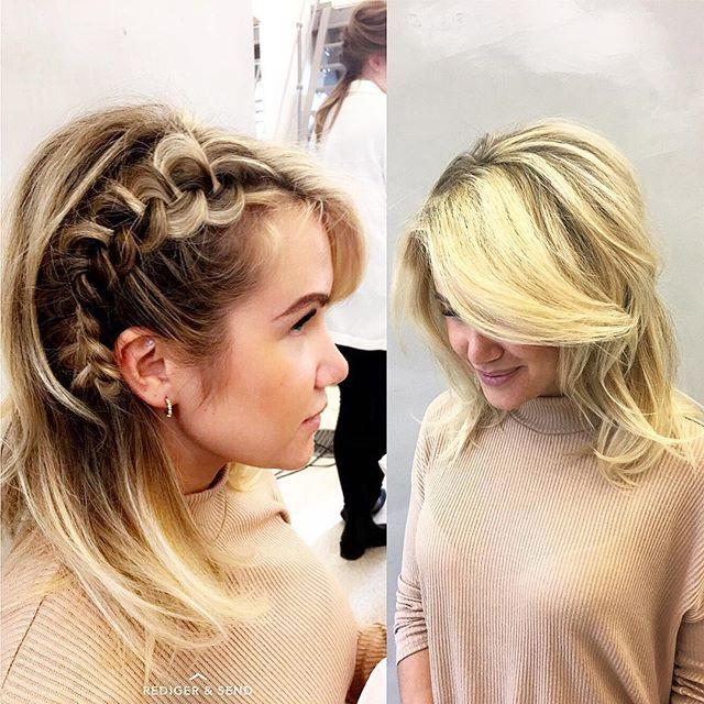Vært på kurs denne uken og lært nye teknikker 👏🏽👏🏽 blir alltid så inspirert til og style mer✨💫 #blowdry#volum#braids#updo#hairstyling#gevirloves#randcohair -@ho_lene