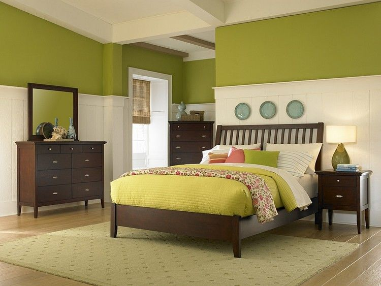 Zweifarbige Wandgestaltung - Ideen und Tipps für stimmungsvolle ...