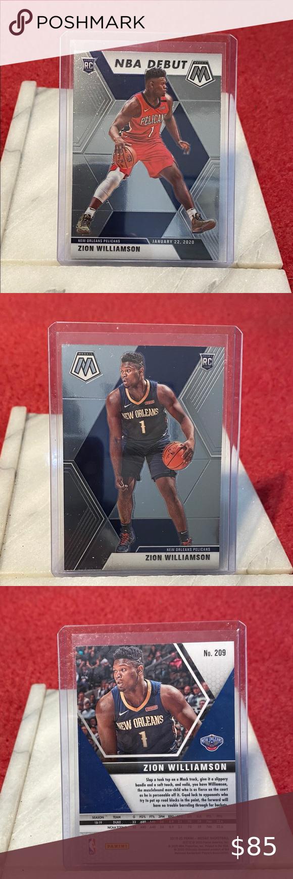 2019 20 Panini Mosaic Zion Williamson Nba Mint 2019 20 Panini Mosaic Zion Williamson Nba Debut Rookie Card Ships In Sleeve And Top Loa In 2020 Nba Williamson Zion