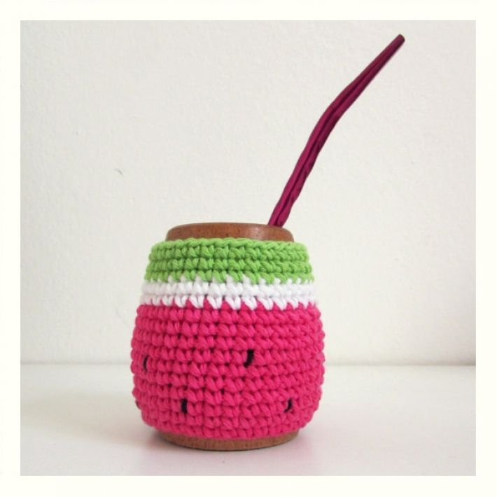 Promo Mate + Agarradera Sandía | Deco Crochet