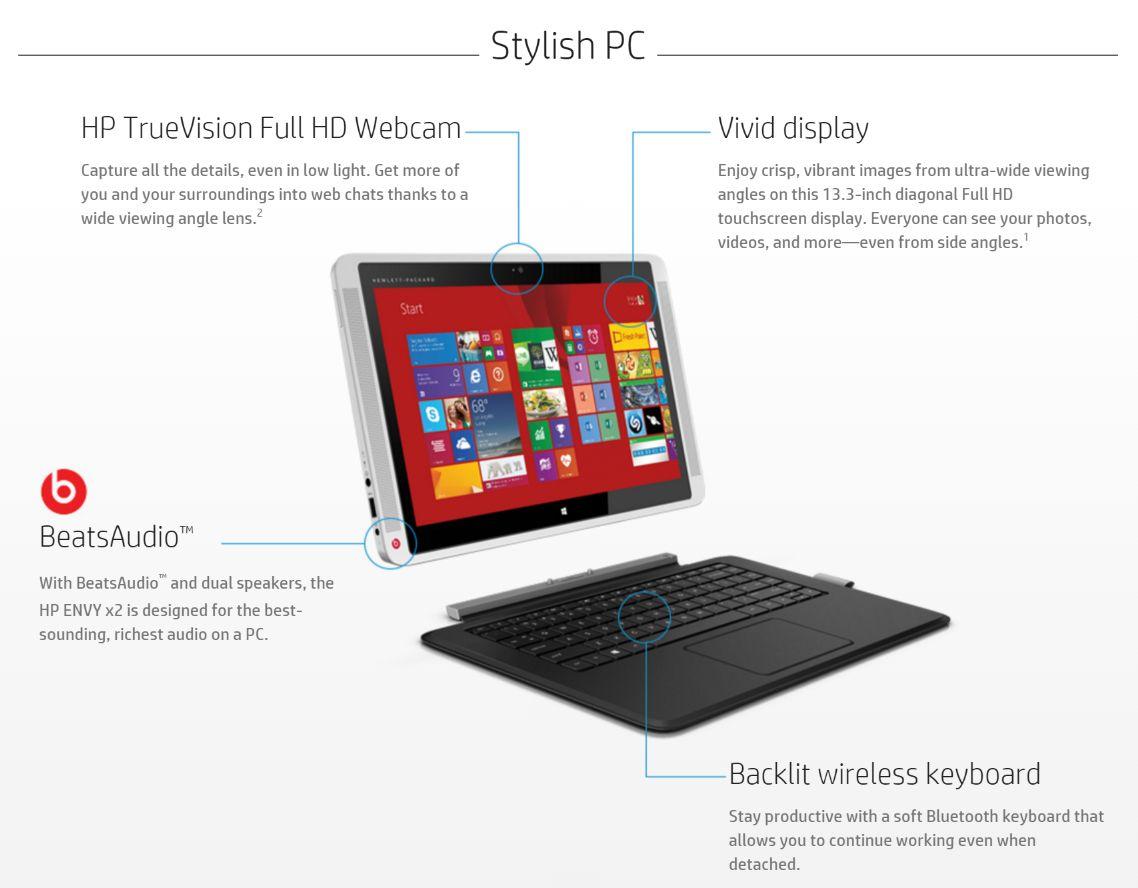 HP Envy X2 Ultra-Portables : 13