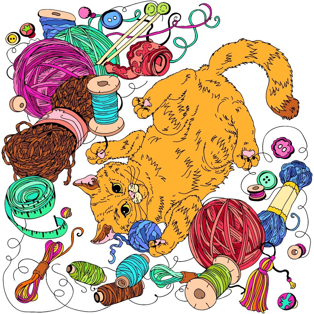 Colorbynumber Coloring Book App Happy Colors Cat Art
