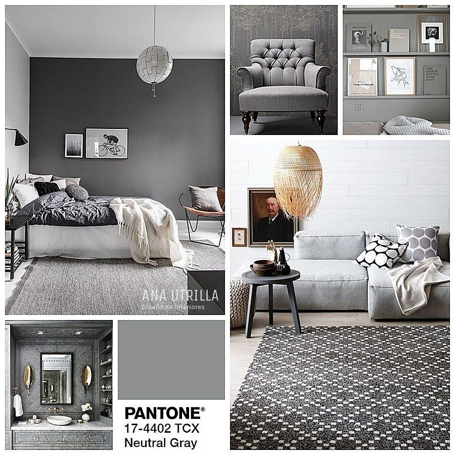 Neutral gray color pantone en tendencia para oto o for Tendencia decoracion interiores 2016