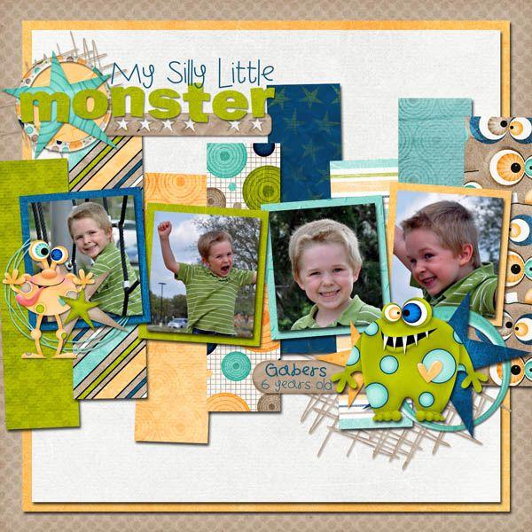 My Silly Little Monster Digital Scrapbooking Gallery Upload