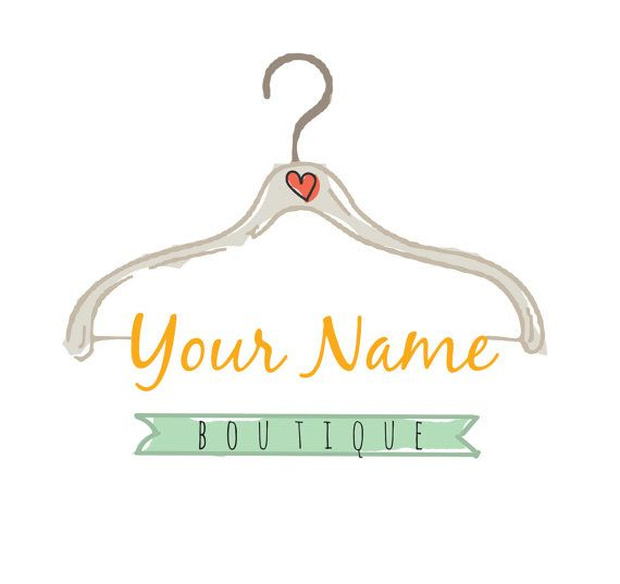 Pre Made Logo Clothing Hanger Logo Design Embroidery