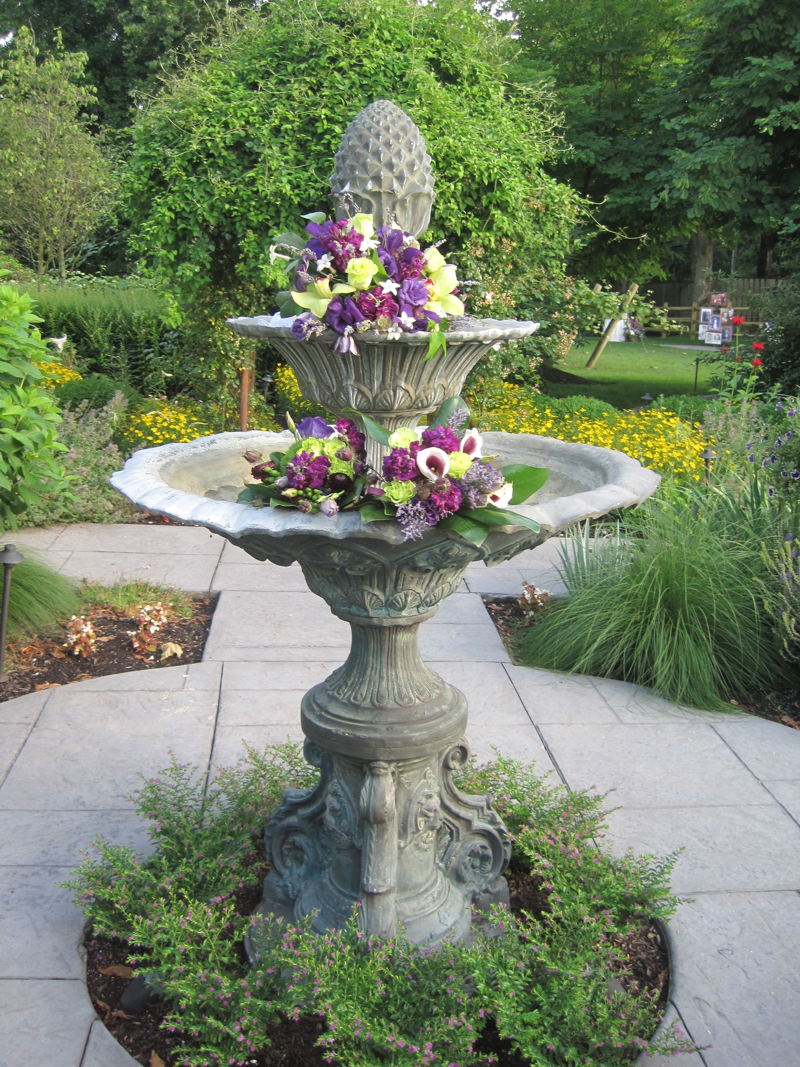 Wedding Fountain Decor  French country garden, French country