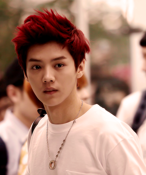 Image of: Hunhan Lu Han exo With Pretty Red Hair Pinterest Lu Han exo With Pretty Red Hair Hallyu Exo Luhan Kpop