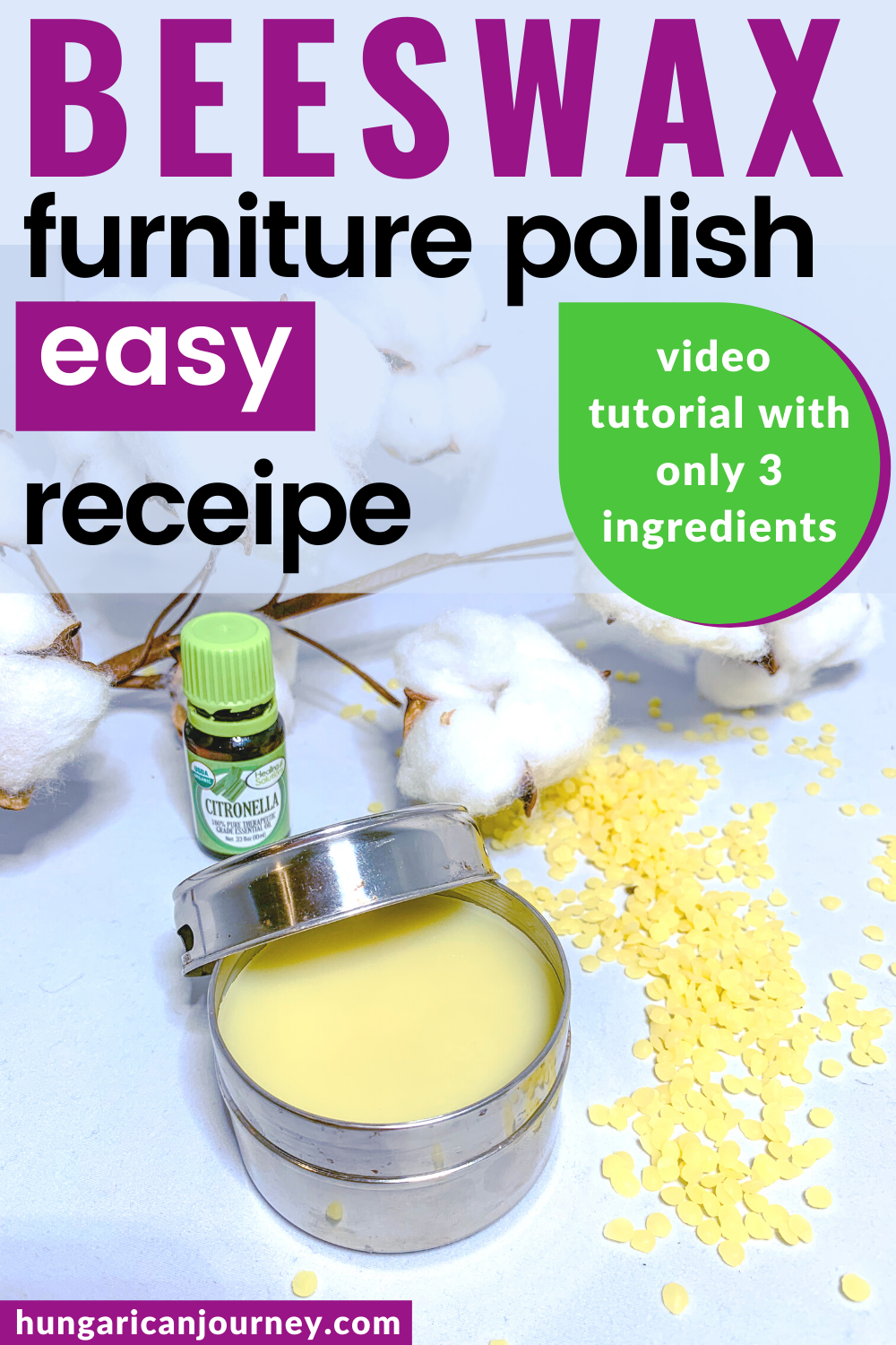 How to make natural beeswax furniture polish Learn to