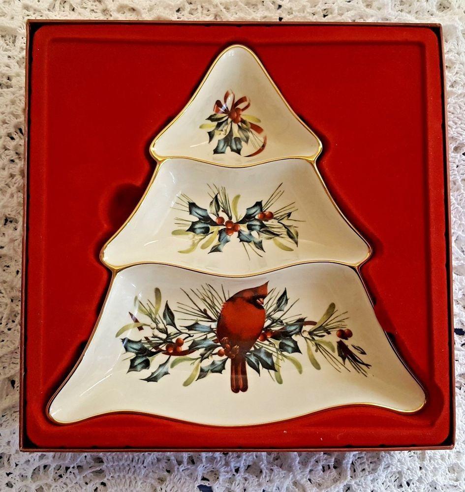 Lenox winter greetings tree divided christmas serving snack dish in lenox winter greetings tree divided christmas serving snack dish in box kristyandbryce Choice Image