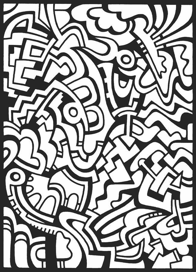 Cool coloring pages for rainy days. | Abstract coloring ...