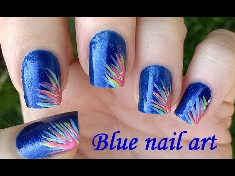 Blue Nail Art For Spring And Summer How To Easy Striped Nails
