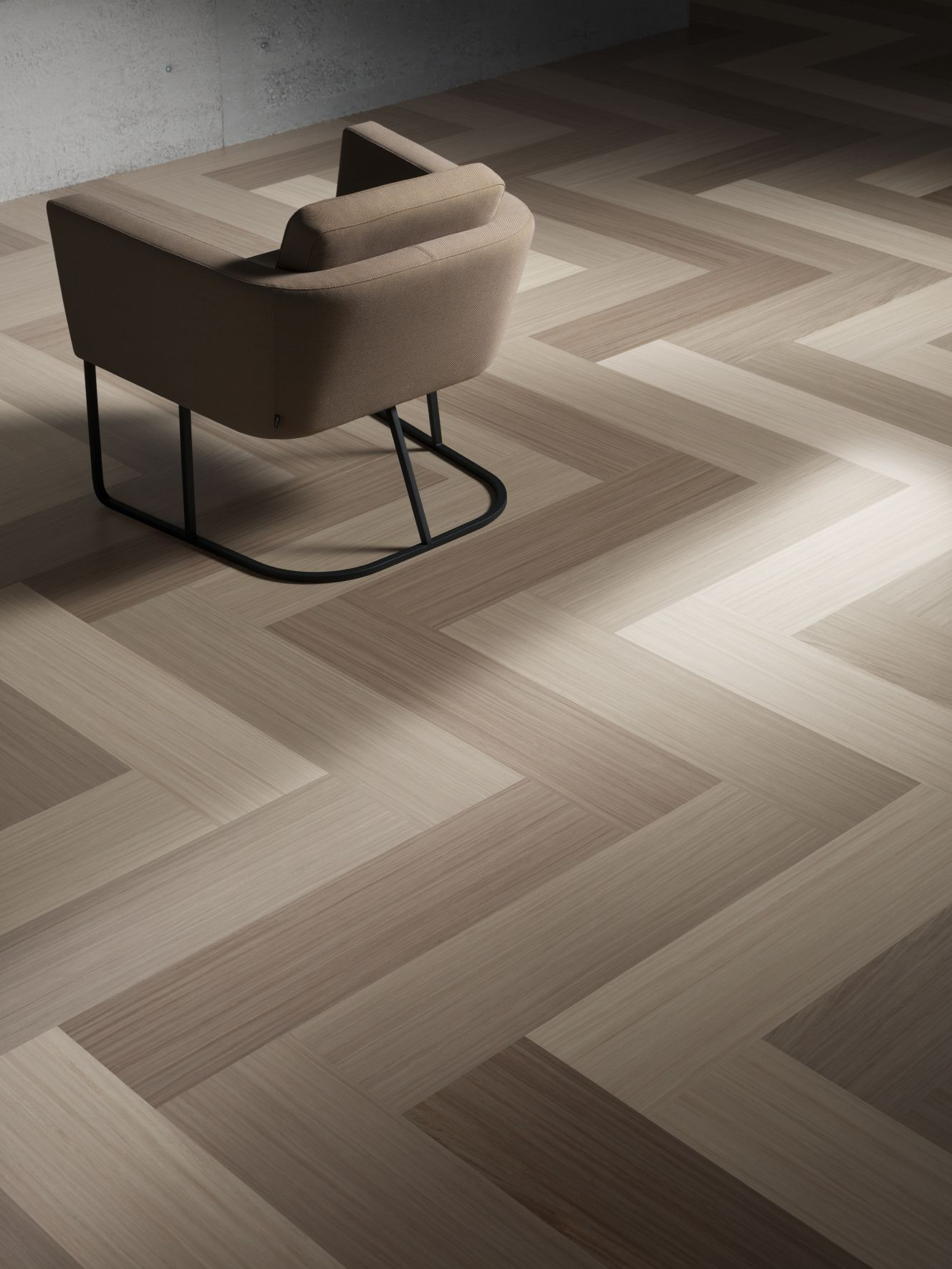 Forbo Modular tile in Striato 5230, 5235 & 5217 - 100 X 25 planks - Forbo Modular, Winner of ADEX platinum award 2015. 59 colours and 4 coordinated sizes of planks and squares