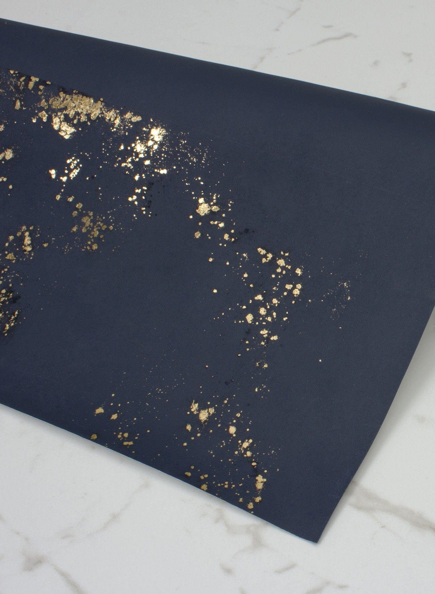 Glitter Peacock Navy / Gold wallpaper by Albany Peacock
