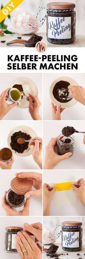 Kaffee-Peeling selber machen - DIY-Geschenkidee - gratis Anleitung via Makerist.de #weihnachtsmarktideenverkauf
