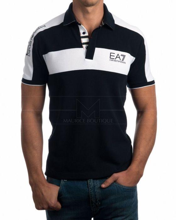 ea7 black polo
