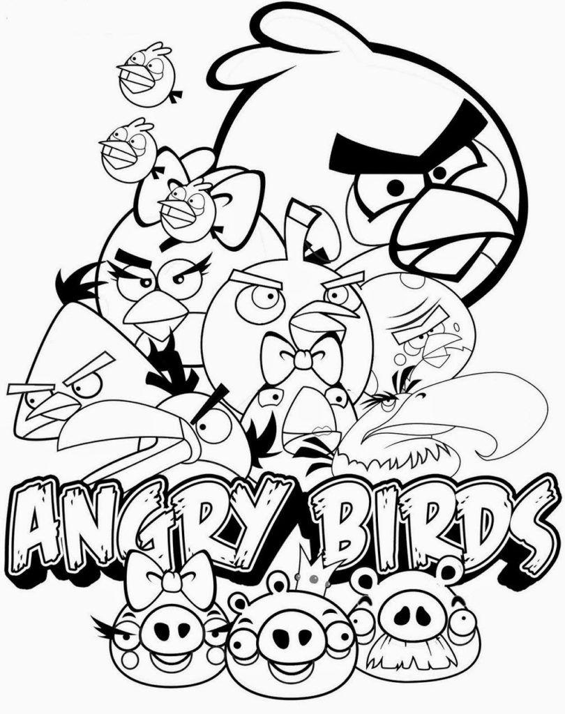 Gambar Mewarnai Angry Birds 27 810x1024 Jpg 810 1024 Maleboger