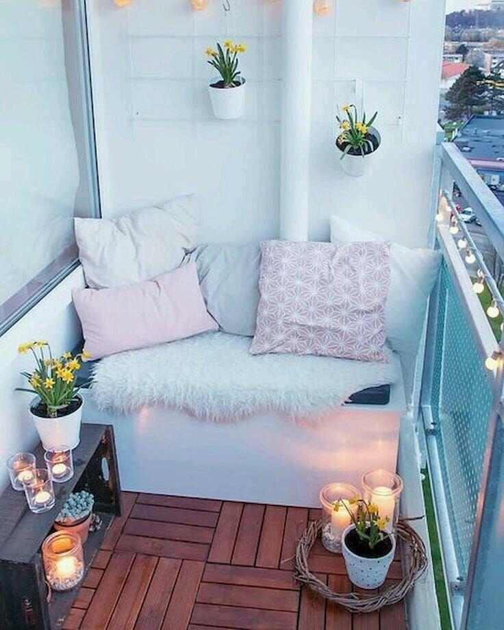 Wenn Sie der Meinung sind, ein kleiner Außenbereich zu haben (siehe: Balkon oder Feuerleiter), können Sie ihn nicht mit einem niedlichen und kreativen Dekor ausstatten. - Sibel Akdoğan - BesteHaare - BesteHaare #kleinerbalkon