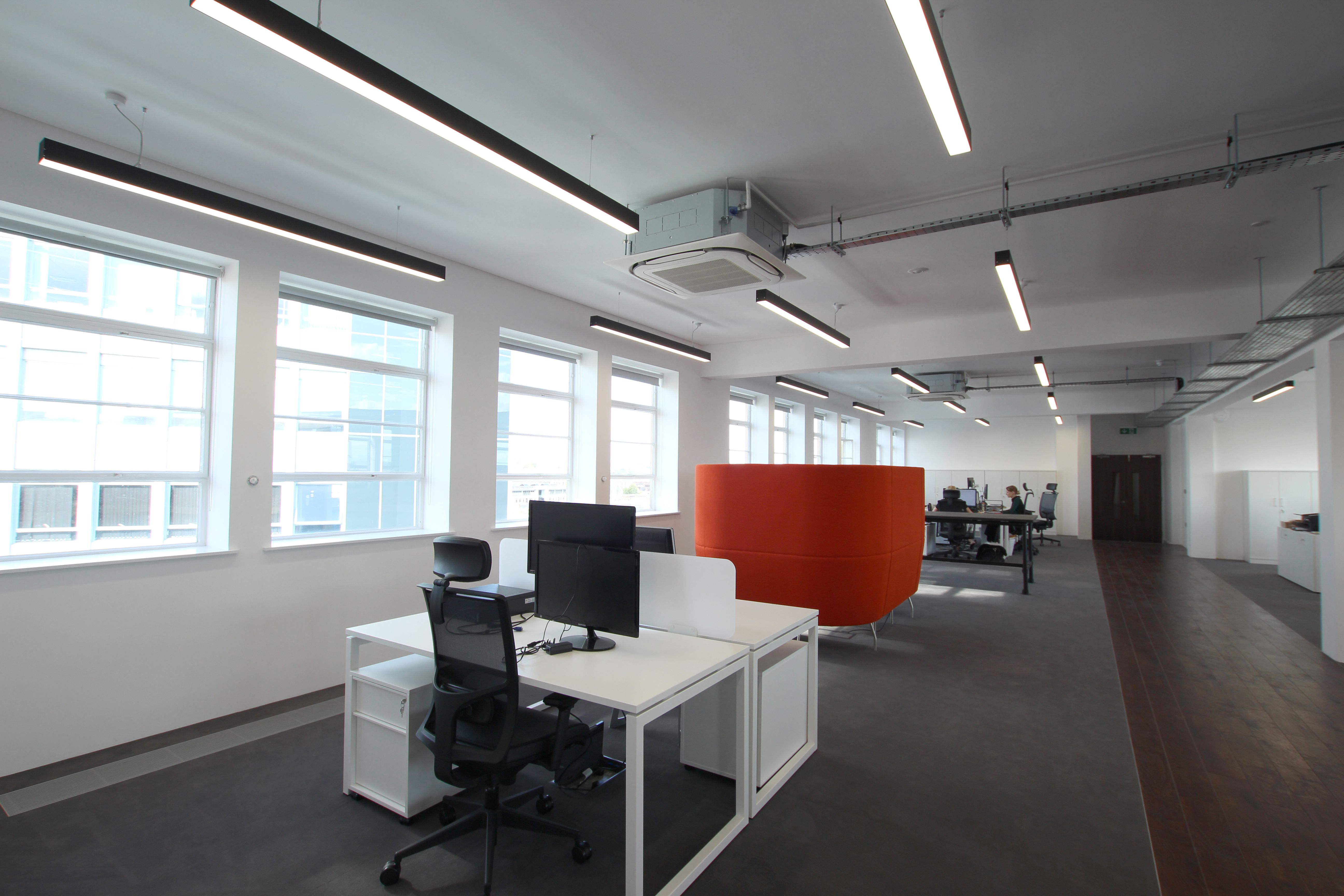 suspended office lighting. Custom Slim Linear LED Lighting For Office Refurbishment Suspended O