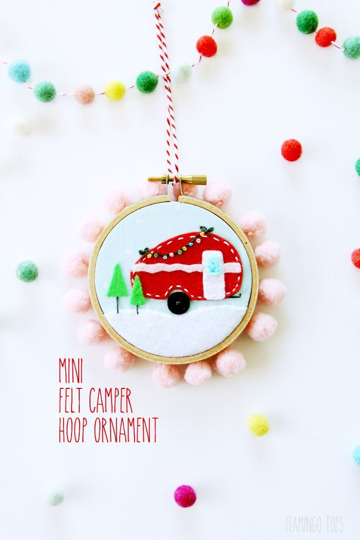 camper christmas ornament a cute easy and adorable diy ornament perfect for your christmas tree of as a present topper - Camper Christmas Decorations