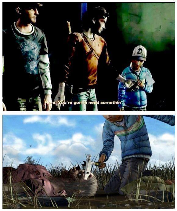 Please Telltale Never Let Clem Lose The Hatchet That Luke Gave Her Via Mo3 White The Walking Dead Telltale Walking Dead Game The Walking Dead