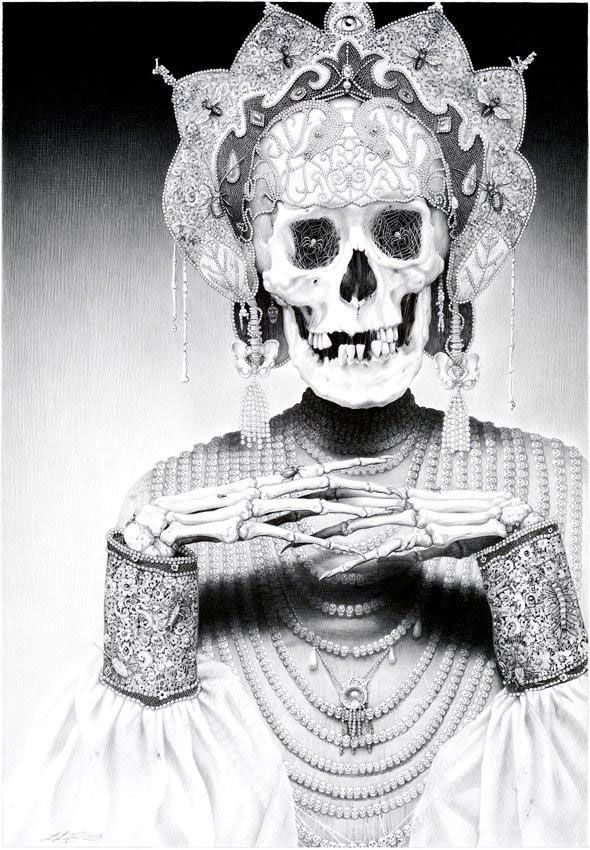 Лори Липтон | Рисунки черепов, Картинки с черепами, Санта ...