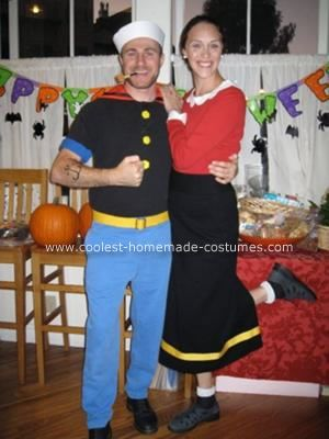 Coolest Homemade Popeye And Olive Oyl Costumes In 2019