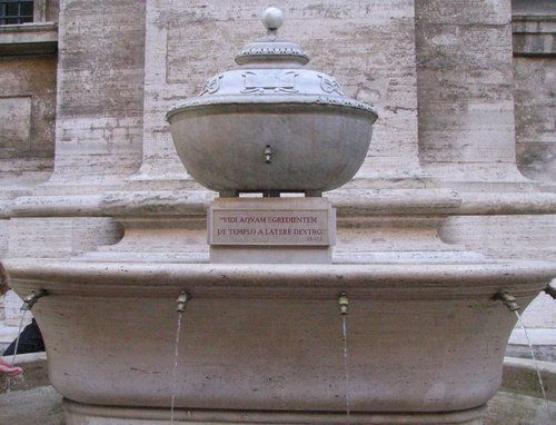 Fountain of holy water at the Vatican. | Vatican, Holy water, Fountain