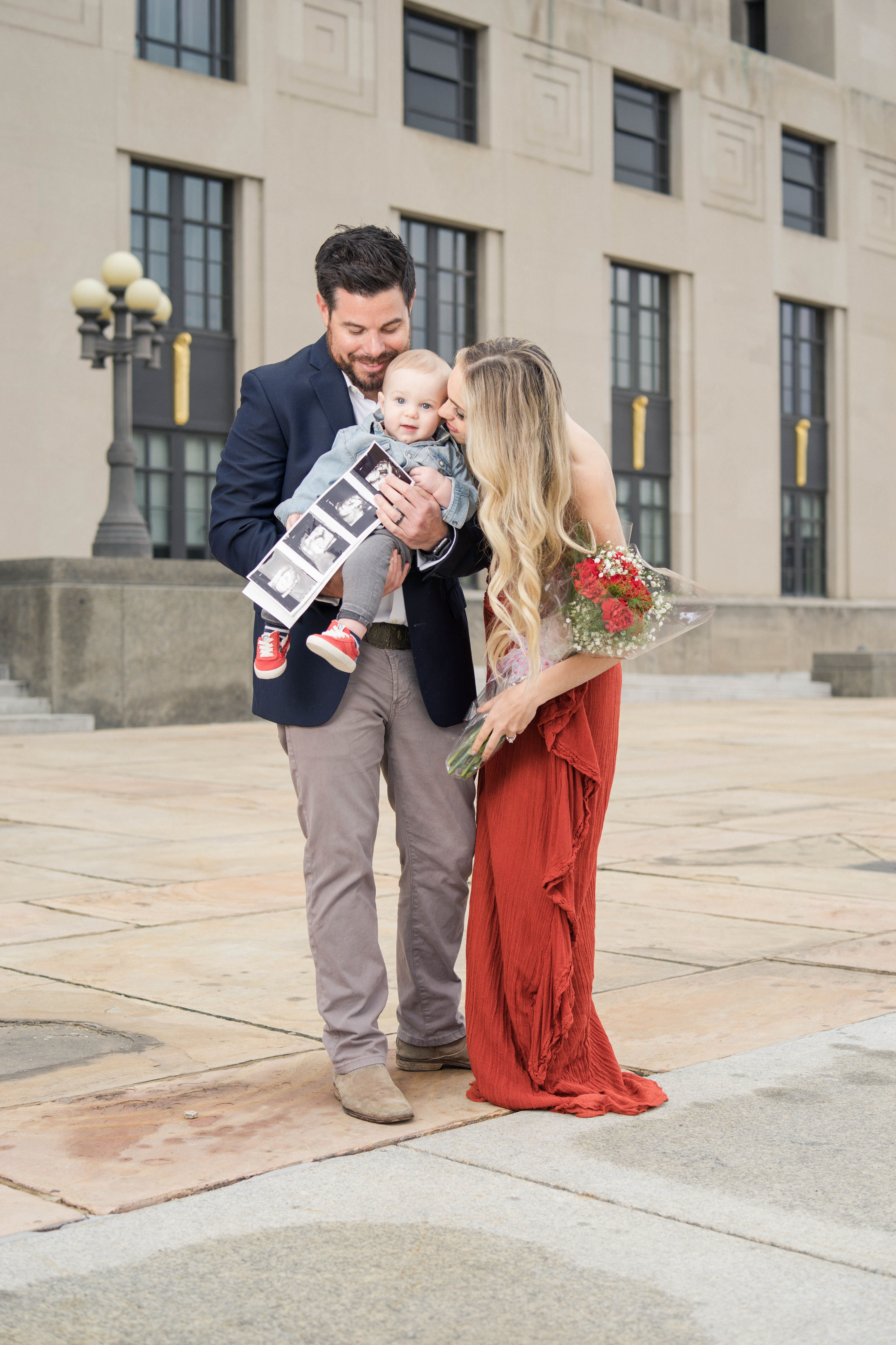 Baby announcement | Family photoshoot | Love themed baby announcement | fashion baby announcement