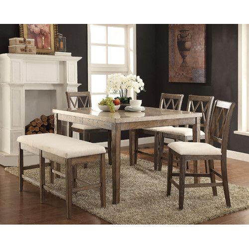 Found it at Wayfair - 6 Piece Counter Height Dining Set