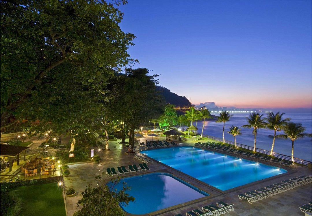 Pool at the Radisson Hotel Barra Rio De Janeiro.