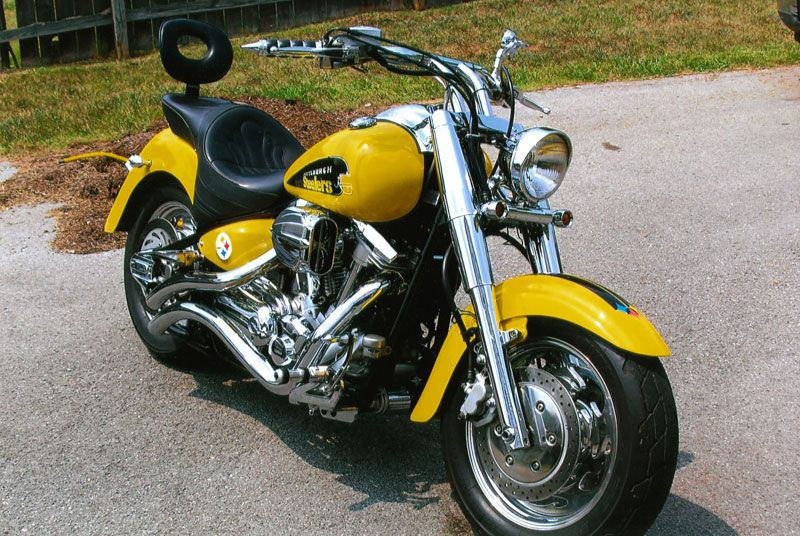 baabea08d4a2cf Custom Steelers motorcycle