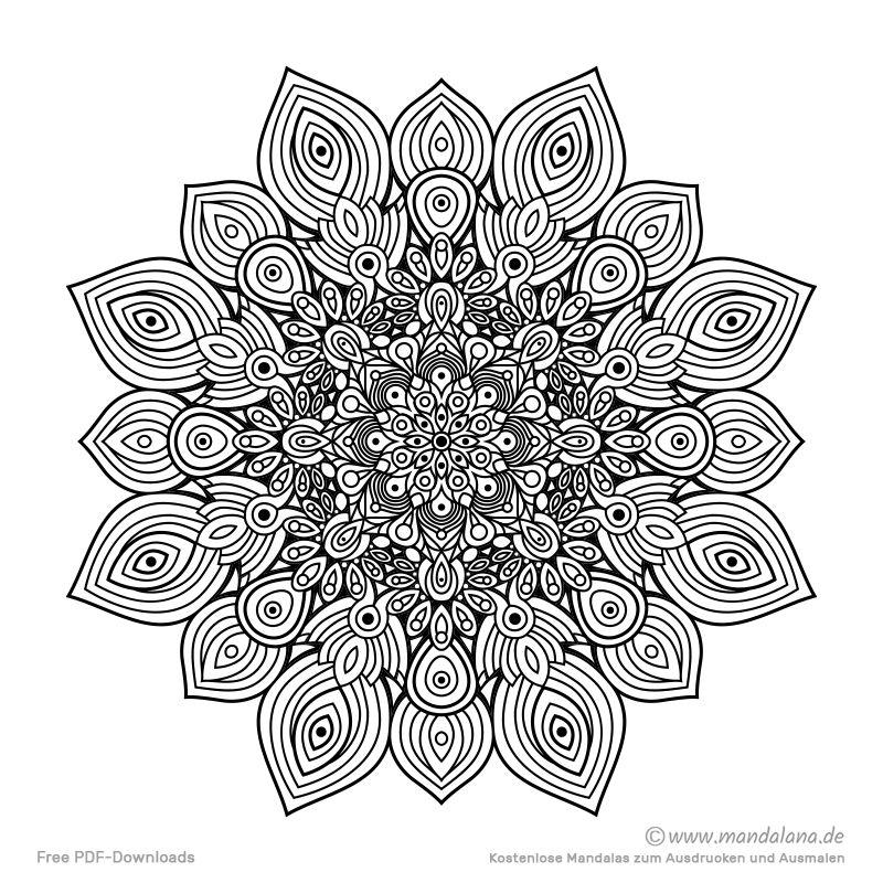 Mandala Malvorlagen Schwierige Mandalas Zum Ausmalen Coloring Pictures Floral Rings Color