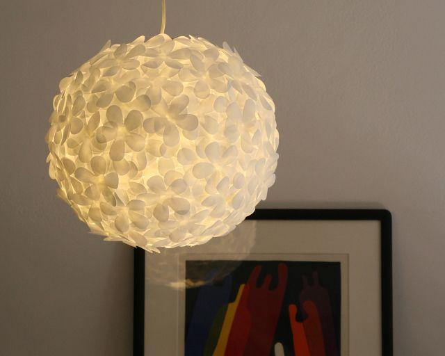 White paper flower pendant light white paper pendant lighting and the3rsblog white paper petal pendant 07 aloadofball Images