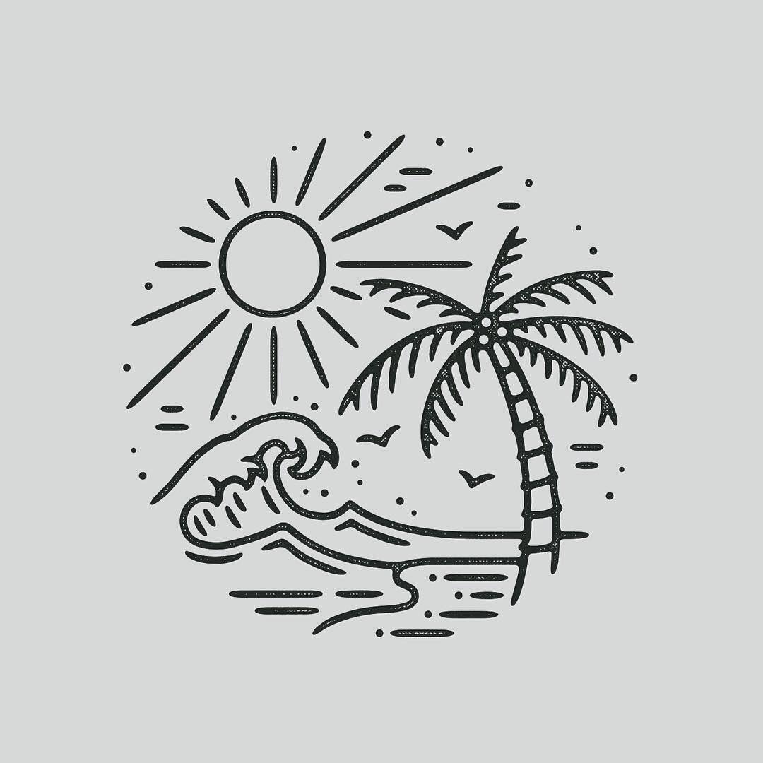 Line Art Beach : Shine like a diamont leenaugustijnen wacka flacka