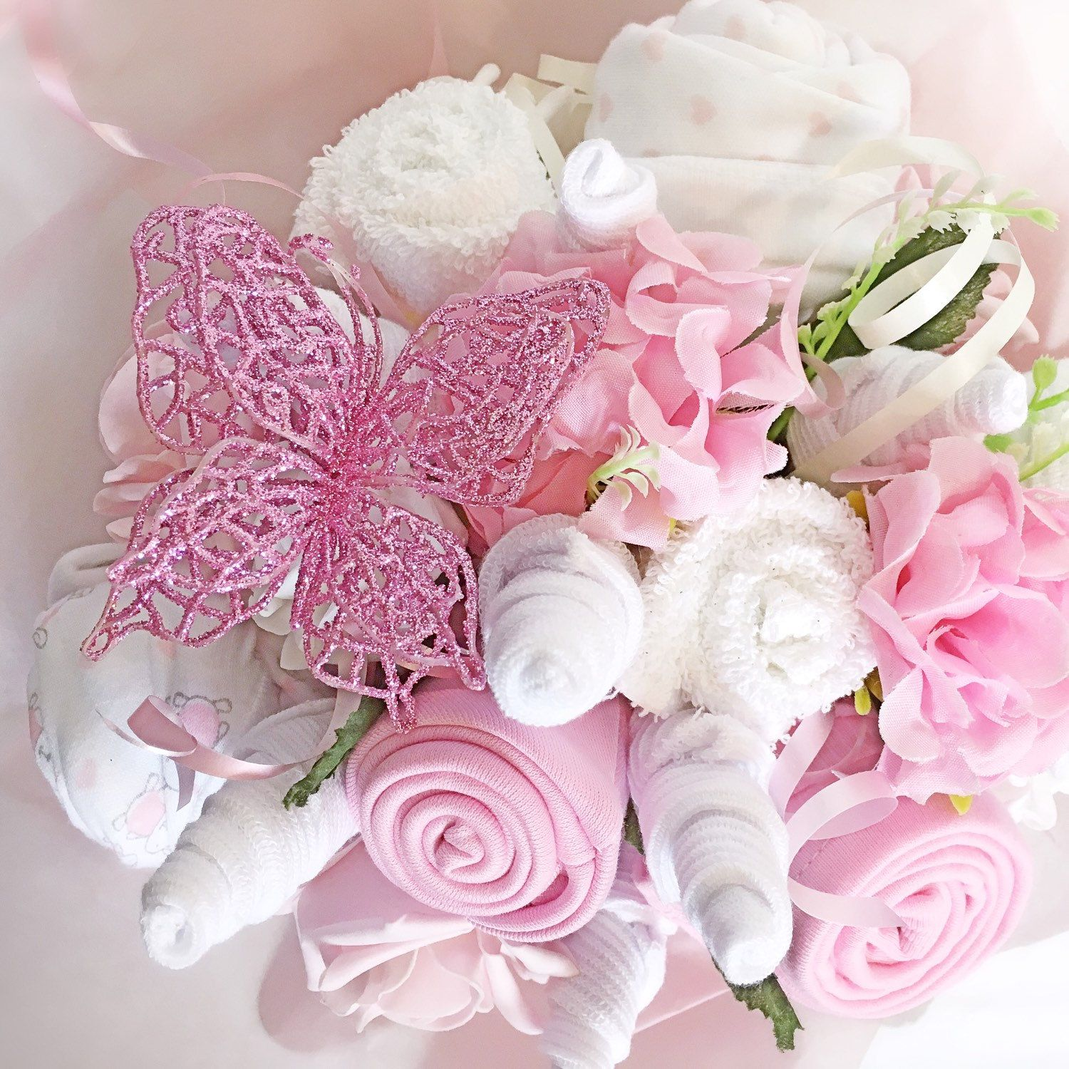 Heres the pink version of our new range baby clothes bouquet heres the pink version of our new range baby clothes bouquet babygifts babygiftsets izmirmasajfo