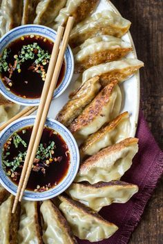 Spicy Sichuan Vegan Potstickers http://thewanderlustkitchen.com/spicy-sichuan-vegan-potstickers/