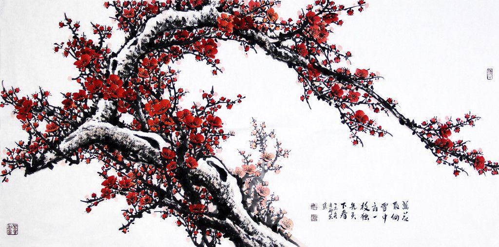 Plum Blossom in Snow 《万花所向雪中出,一枝独先天下春》