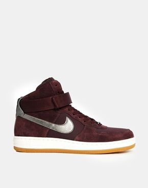 Nike Air Force 1 Ultra Force Mid Burgundy Trainers | Nike