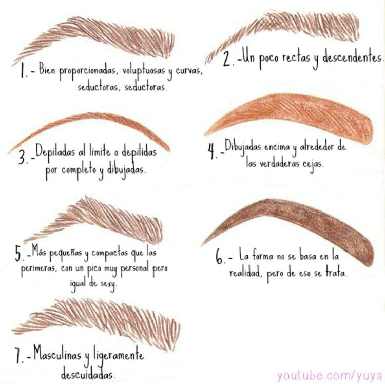 Pin de Tatiana Acevedo en Makeup Pinterest Maquillaje - tipos de cejas